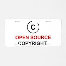 Open source copyright Aluminum License Plate