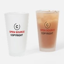 Open source copyright Drinking Glass