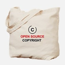 Open source copyright Tote Bag