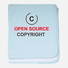 Open source copyright baby blanket