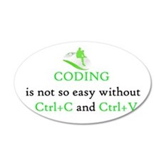 Coding is not easy Wall Decal