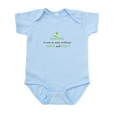 Coding is not easy Infant Bodysuit