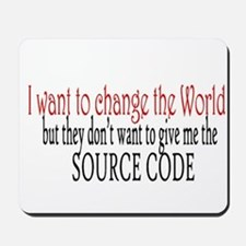 Change the world Mousepad