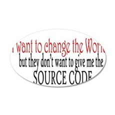 Change the world Wall Decal