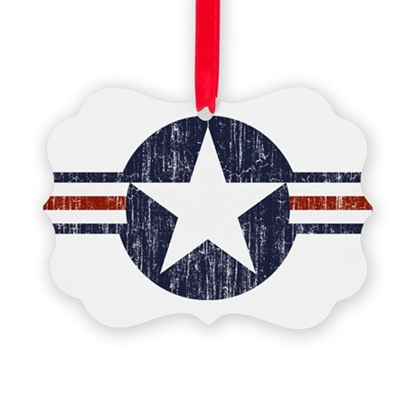 United States Roundel Picture Ornament
