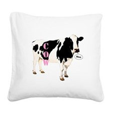 Cow Square Canvas Pillow