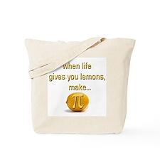 Make Lemon Pi Tote Bag