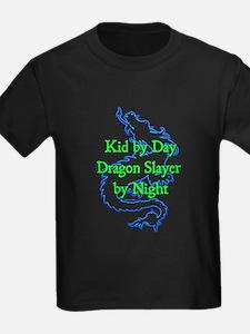 Kid by Day Dragon Kids Blk T-Shirt