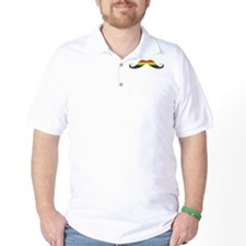 Gay Pride Moustache T-Shirt
