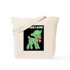 Zombie Lamb Loves Brains Tote Bag