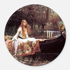 Lady of Shalott Round Car Magnet