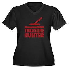 Treasure Hunter Women's Plus Size V-Neck Dark T-Sh