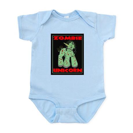 Zombie Unicorn Loves Brains Infant Bodysuit