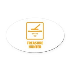 Treasure Hunter Oval Car Magnet