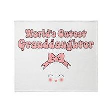 Worlds Cutest Granddaughter Throw Blanket