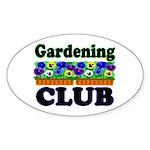 Gardening Club Oval Sticker