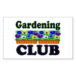 Gardening Club Rectangle Sticker