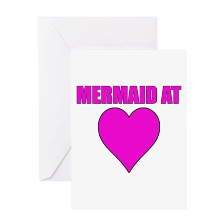 Mermaid at heart Greeting Card