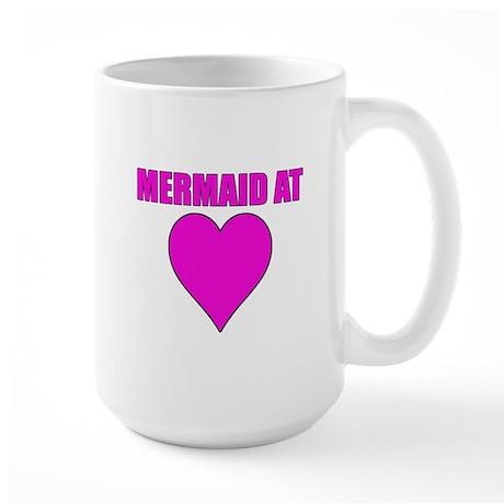 Mermaid at heart Large Mug