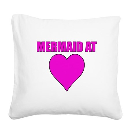 Mermaid at heart Square Canvas Pillow