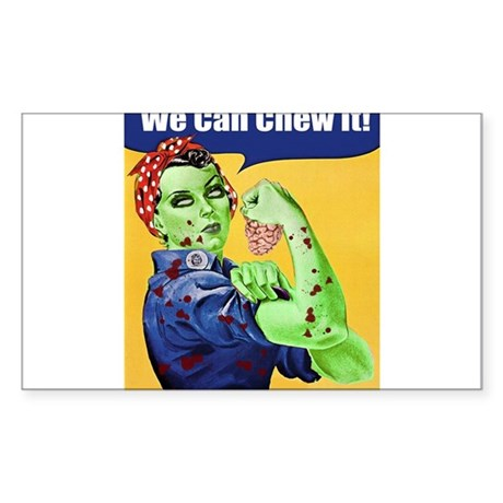 Zombie Rosie the Riveter - You Can Chew It! Sticke