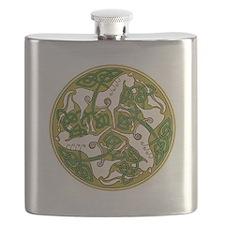 Celtic Horse Disc Flask