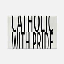 Catholic with Pride Rectangle Magnet