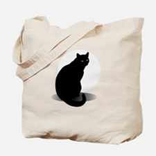 Basic Black Cat Tote Bag
