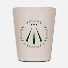 Awen Green Shot Glass