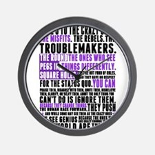 Heres to the Crazy Ones Wall Clock