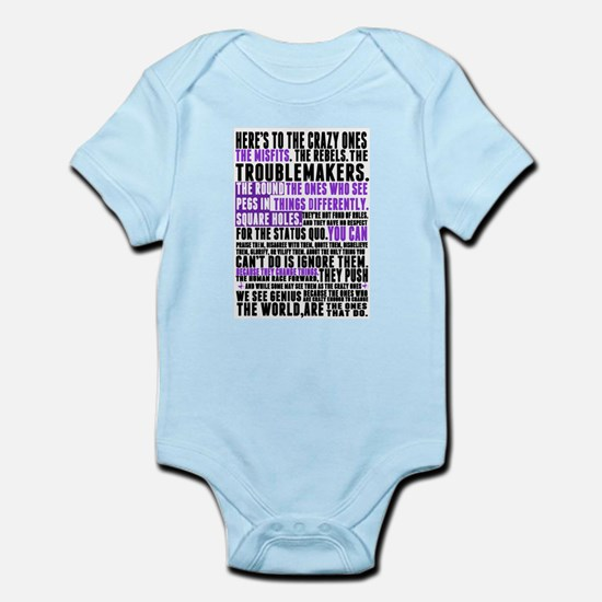 Heres to the Crazy Ones Infant Bodysuit