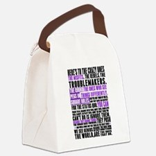 Heres to the Crazy Ones Canvas Lunch Bag