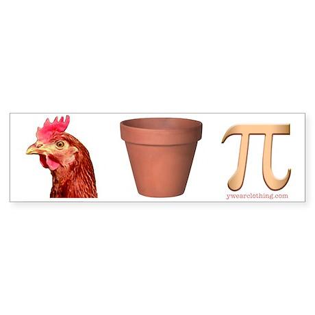 Chicken Pot Pi Bumper Sticker