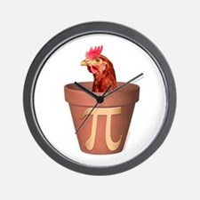Chicken Pot Pi Wall Clock