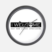 Welcome Alien Overlords Wall Clock