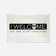 Welcome Alien Overlords Rectangle Magnet
