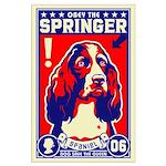 Obey the SPRINGER Spaniel! Large Poster