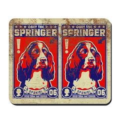Obey the SPRINGER Spaniel! Vintage Mousepad