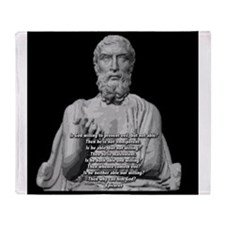 Epicurus God Quote Throw Blanket