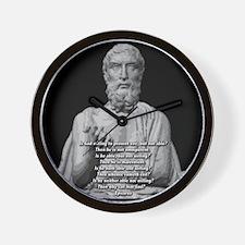 Epicurus God Quote Wall Clock