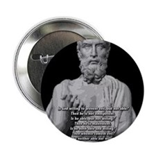 "Epicurus God Quote 2.25"" Button"