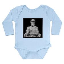 Epicurus God Quote Long Sleeve Infant Bodysuit