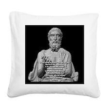 Epicurus God Quote Square Canvas Pillow