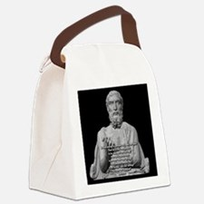 Epicurus God Quote Canvas Lunch Bag