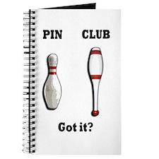 Pin. Club. Got it? Journal