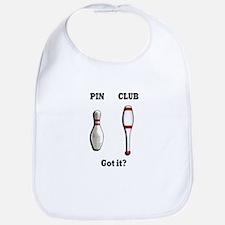 Pin. Club. Got it? Bib