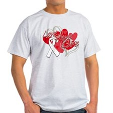 Bone Cancer Love Hope Cure T-Shirt