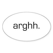 Arghh Oval Decal