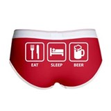 Funny beer sayings Ladies Boy Shorts