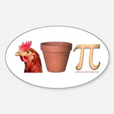 Chicken Pot Pi Oval Decal
